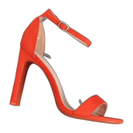 Orange high-heeled sandals NF-37P Orange