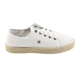 Ballerinas espadrilles women's shoes white Big star 274423