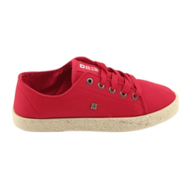Ballerinas espadrilles women's shoes red Big star 274424