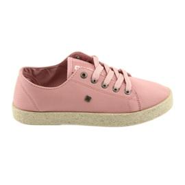 Ballerinas espadrilles women's shoes pink Big star 274425