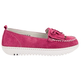 Filippo Fashionable Leather Loafers pink