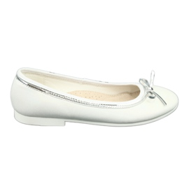 Ballerinas with a bow, white pearl American Club GC29 / 19 multicolored