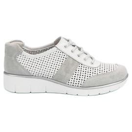 Filippo white Openwork leather shoes