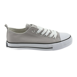 Sneakers tied with gray American Club women's shoes grey