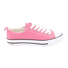 American Club Sneakers tied pink American Women's shoes