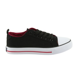 Black club-tied sneakers American Club