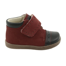 Boy shoes with velcro Ren But 1535 burgundy
