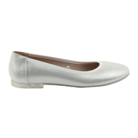 Grey Ballerina shoes for women silver Sergio Leone 607