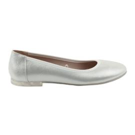 Grey Ballerina shoes for women silver Sergio Leone BL607