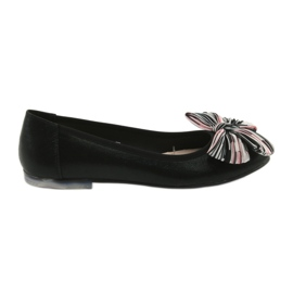 Ballerina women's shoes with a bow Sergio Leone 605 black