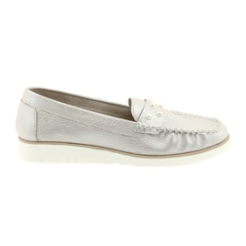 Sergio Leone Loafers women's shoes beige pearl