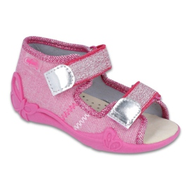 Pink Befado yellow children's shoes 342P001