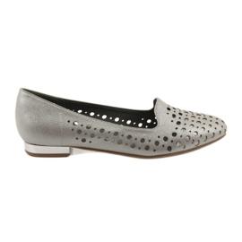 Daszyński Lordsy women's stylish openwork shoes 151 brown