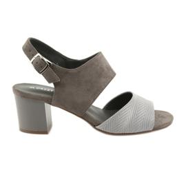 Daszyński brown Women's high heels 122-4