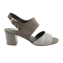 Daszyński Women's high heels 122-4 brown