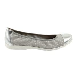Grey Ballerinas Caprice 22152