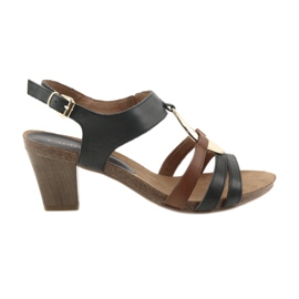 Caprice women's sandals gold oval