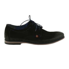 Men's suede shoes Nikopol 1709 black