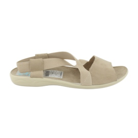 Sandals for women Adanex 17495 beige brown