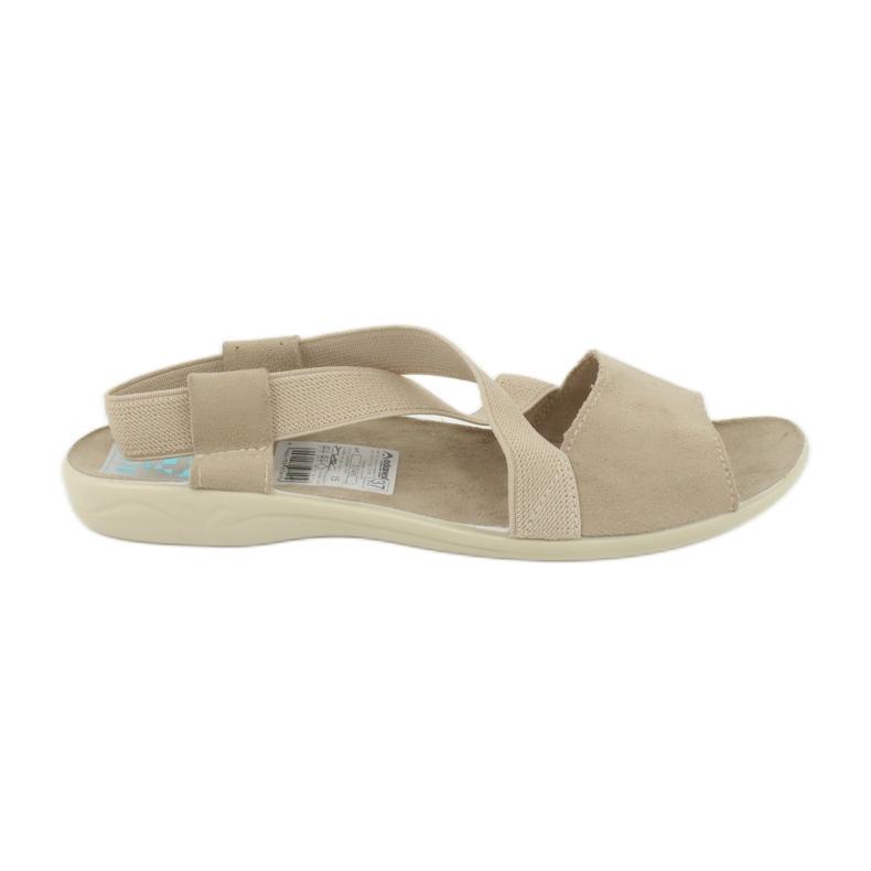 Sandals for women Adanex 17495 beige brown