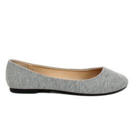 Gray cotton ballerinas LZ-8537 Gray grey