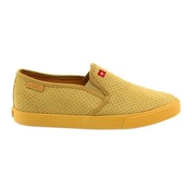 Yellow Big Star 274889 women's slip-in sneakers