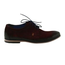 Men's suede shoes Nikopol 1709 burgundy