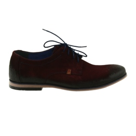 Men's suede shoes Nikopol 1709 burgundy