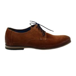 Men's suede shoes Nikopol 1709 Camel suede