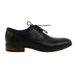Men's formal lounge shoes Nikopol 1695 black