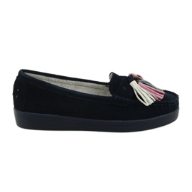 Mocassian ladies moccasins Filippo 661 navy blue