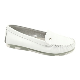 Filippo 141 white leather moccasins