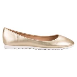 Yes Mile Classic golden ballerinas