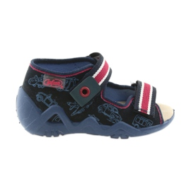 Navy Befado yellow children's shoes 350P003