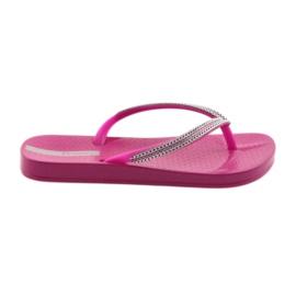 Flip flops silver chains Ipanema 82528 pink