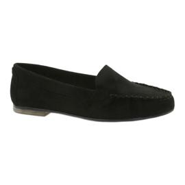 Women's suede loafers Sergio Leone 721 black