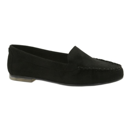 Women's suede loafers Sergio Leone 721 black