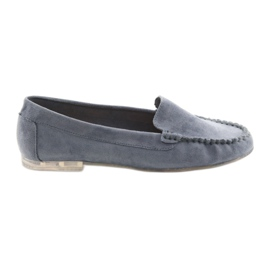 Women's suede loafers Sergio Leone 721 blue