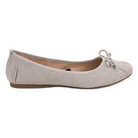 Lucky Shoes grey Gray Knotted Ballerinas