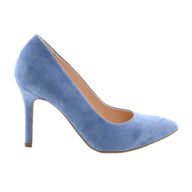 Pumps on a pin women's shoes Edeo 3313 blue