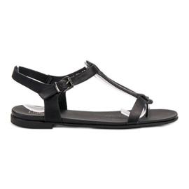 Filippo Black Japanese Sandals