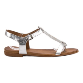 Filippo Silver Sandals grey