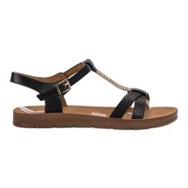 Filippo Classic Black Sandals