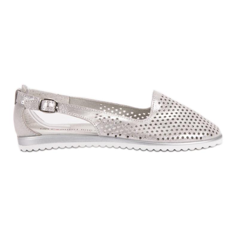 Leather VINCEZA ballerinas grey