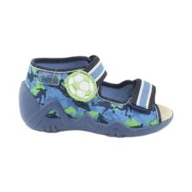 Befado yellow children's shoes 350P002 blue green