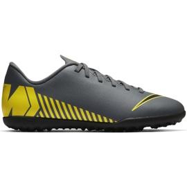 Nike Mercurial Vapor X 12 Club Tf Jr AH7355-070 Football Shoes grey