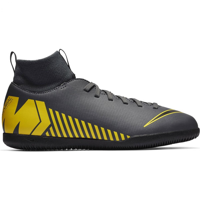 Indoor shoes Nike Mercurial Superfly X 6 Club Ic Jr AH7346-070 grey of graphite