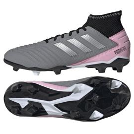 Football boots adidas Predator 19.3 Fg W F97528 grey gray / silver