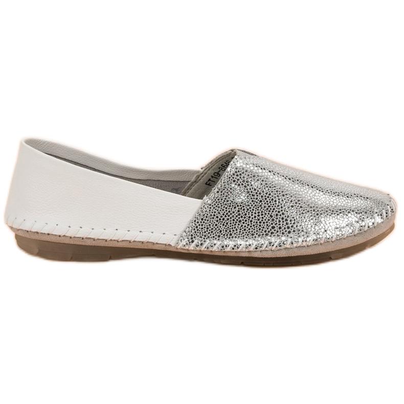VINCEZA leather slipons grey