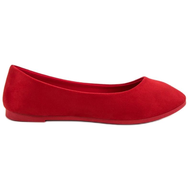 VICES suede red ballerinas